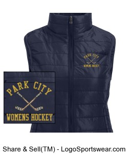 Ladies Ultra Light Puffer Vest Design Zoom